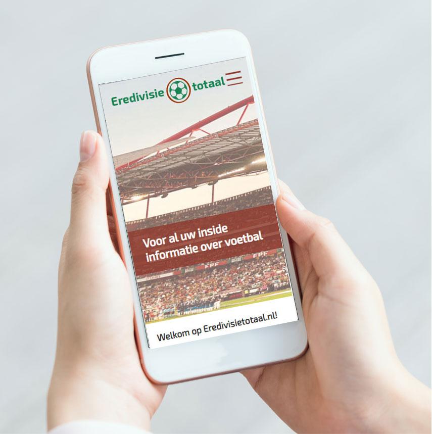 Portfolio website Eredivisietotaal op smartphone