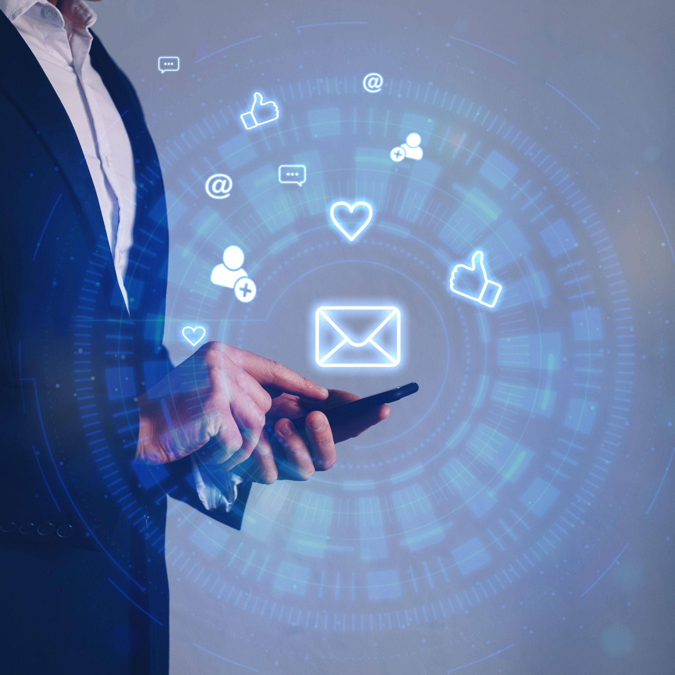 ondernemer neemt contact op over website